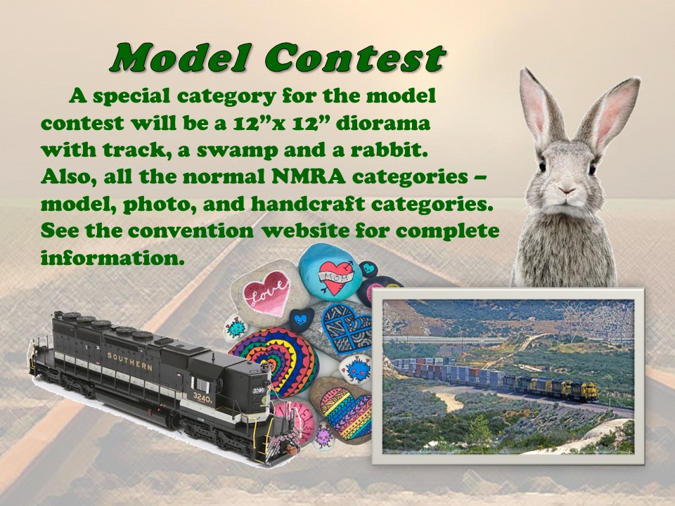 Swamp Rabbit Express NMRA SER Convention in Greenville SC, September 9-12, 2021